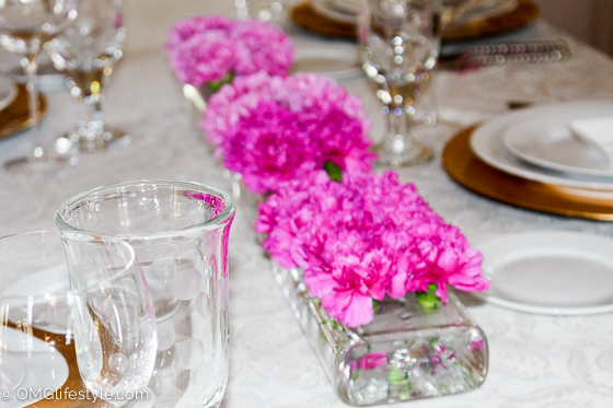 Pink Carnation Centerpiece for Mother's Day
