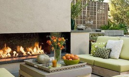 Inviting Outdoor Fireplaces