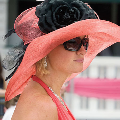 Gorgeous Coral Derby Hat