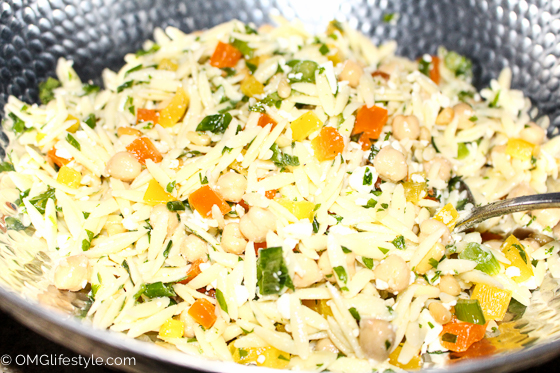 Orzo Salad Recipe with Feta and Mint