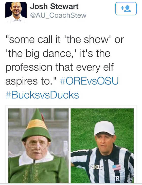 Ref at OSU Game resembles Bob Newhart