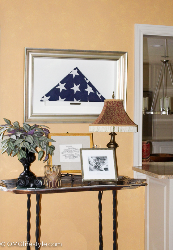 Framed Military Flag in Shadow Box