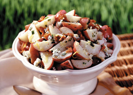 Potato Salad with Bacon and Blue Cheese
