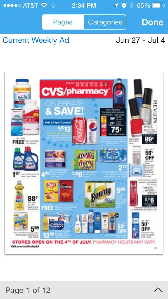 CVS Weekly Ad on Key Ring App