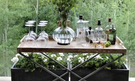 The Portable Bar | Chic Bar Carts & Butler Trays
