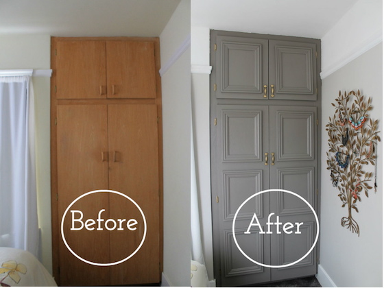 Closet Door Makeover & 10 Clever Remodeling Ideas for Your Home pezcame.com