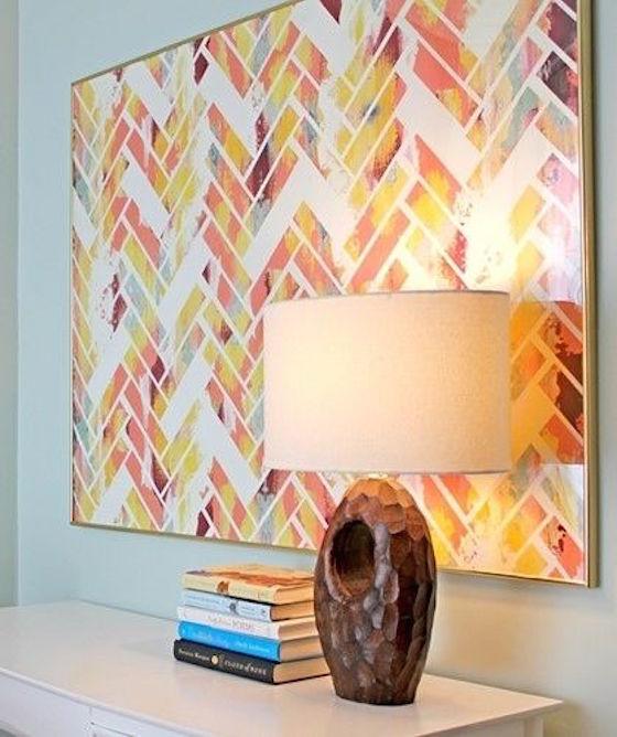 Herringbone Pattern Art
