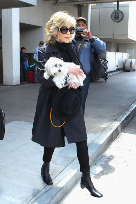 Jane Fonda at Airport