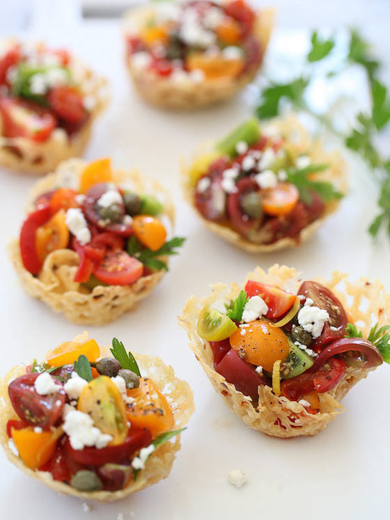 9 Delicious Summer Tomato Recipes | OMG Lifestyle Blog | Heirloom Tomato Frico Cups