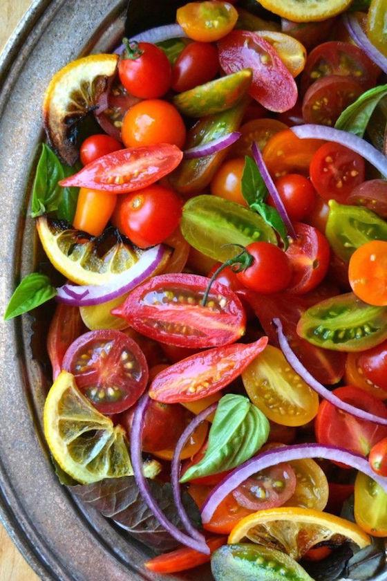 9 Delicious Summer Tomato Recipes | OMG Lifestyle Blog | Tomato, Onion, and Roasted Lemon Salad