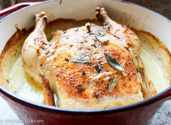 Amazingly Moist Roasted Chicken in Milk (Yes, Milk!)