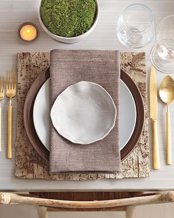 Tablescape Inspiration | Martha Stewart's Rustic Tablescape