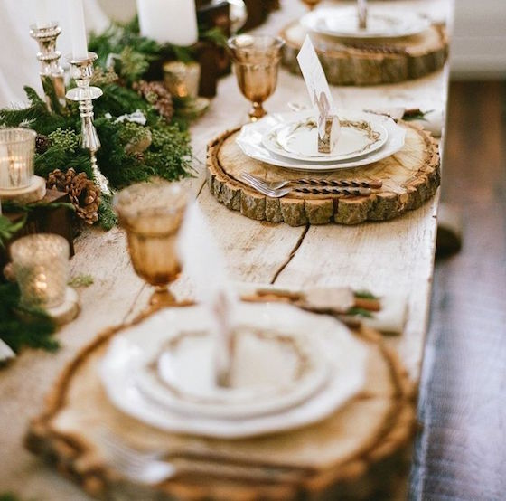 Tablescape Inspiration | Wood Chargers