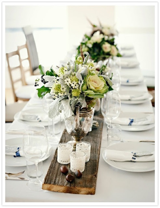 Tablescape Inspiration | Wood Table Runner