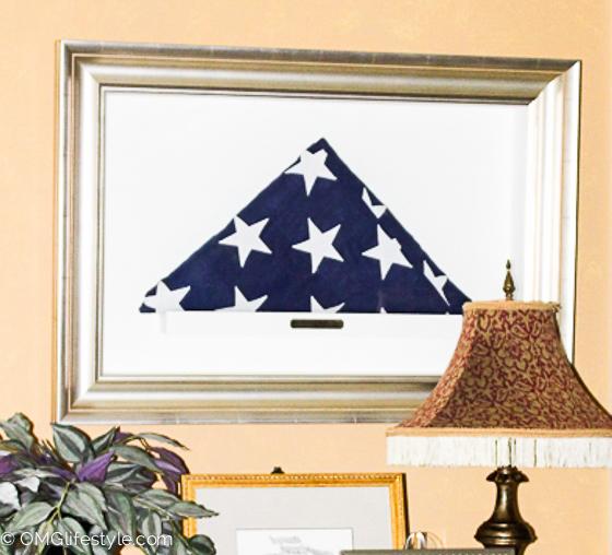 Framed-Military-Flag-in-Shadow-Box