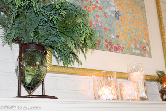 Merry and Bright Holiday Home Tour - OMG Lifestyle Blog - Be sure to add water daily to your evergreen vase.