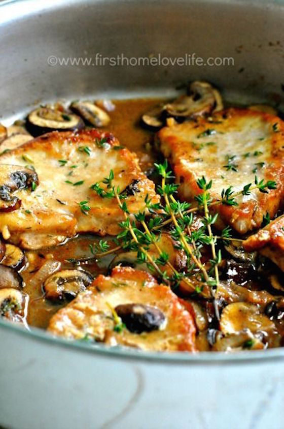 Pork Marsala with Mushrooms and Shallots - This recipe from First Home ...