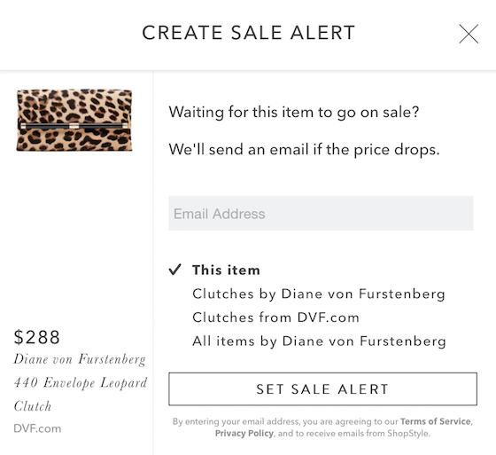 ShopStyle Sale Alert