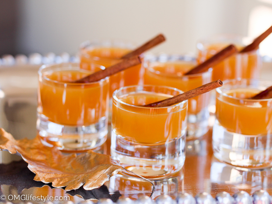 Signature drink - mulled apple cider to greet Thanksgiving Guests