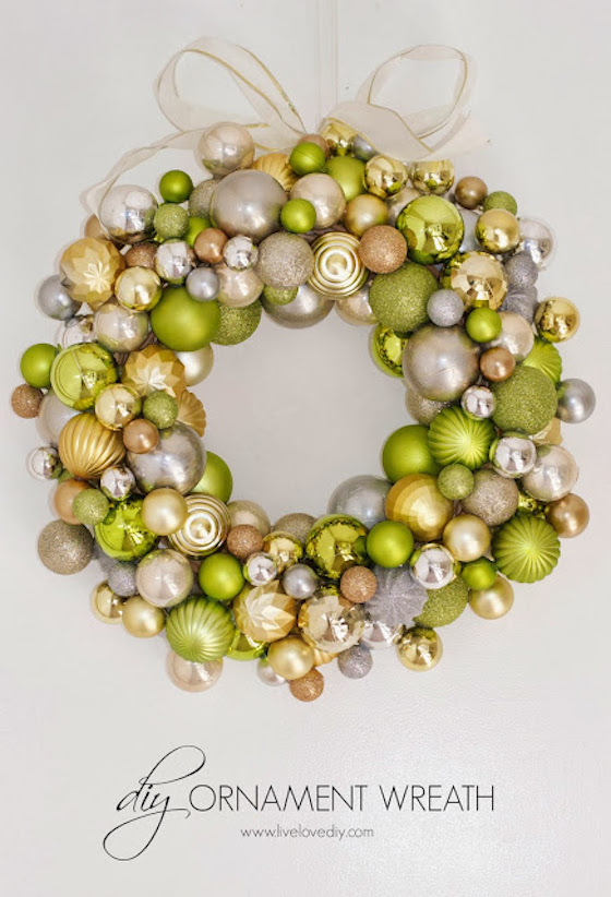 if you enjoy doing crafts you can create a beautiful wreath out of christmas bulbs - Elegant Christmas Wreaths
