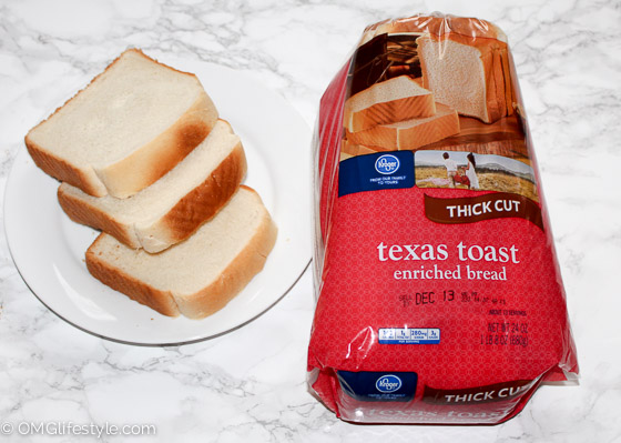 You may be thinking, what is Texas Toast? It's a thicker sliced white bread which is ideal for French toast.