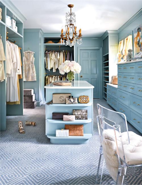 Gorgeous blue closet