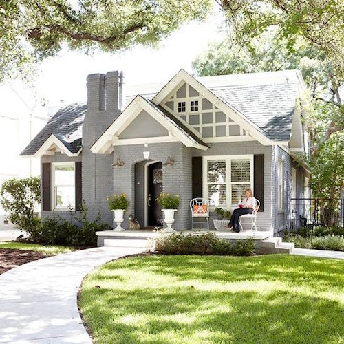 Charming house with gray painted brick