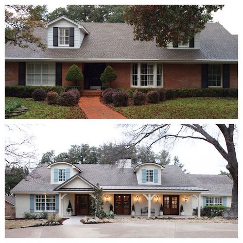 Painted brick homes add charm curb appeal omg lifestyle blog - Exterior paint for brick homes ...