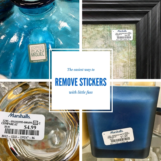 How to remove stickers with little fuss