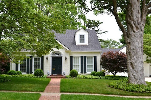 Painted brick homes add charm curb appeal omg Black brick homes