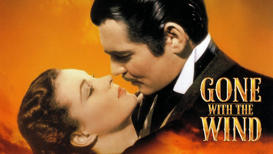 Top 50 Romantic Films including Gone with the Wind