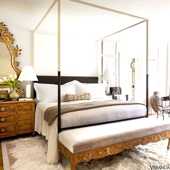 Pretty Bedroom with both Modern and Traditional Decor