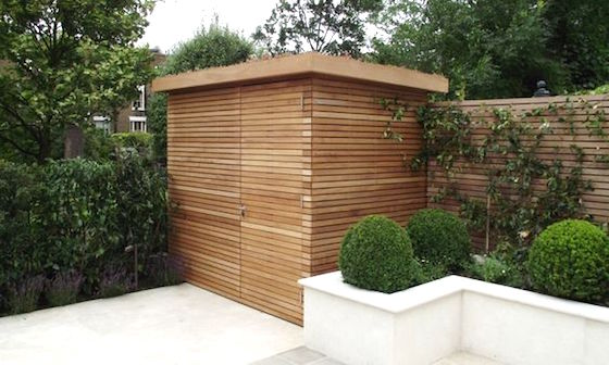 Contemporary Wood Garden Shed