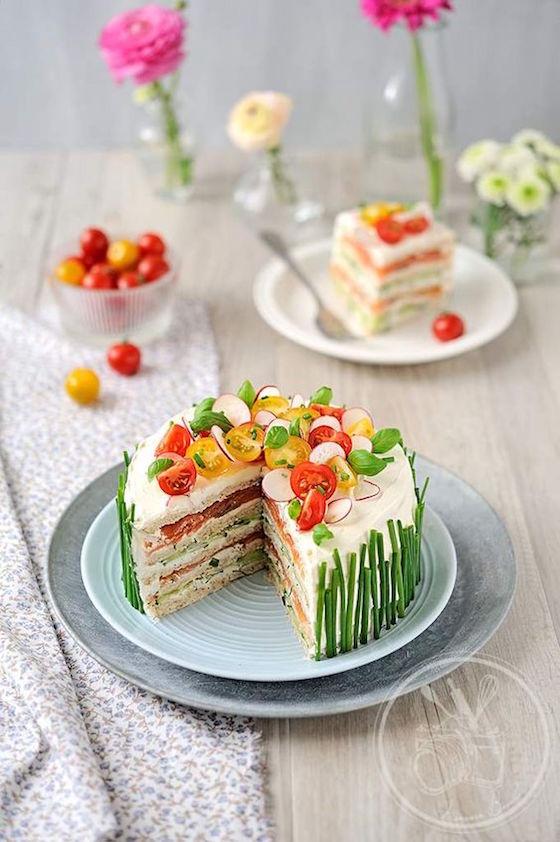 Cake Mie De Pain Saumon
