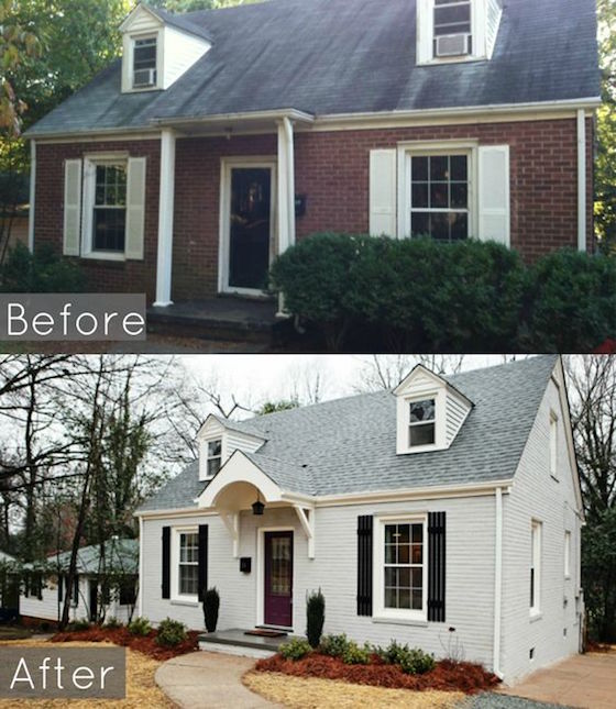 8 small homes get huge facelifts omg lifestyle blog for Cape cod house renovation