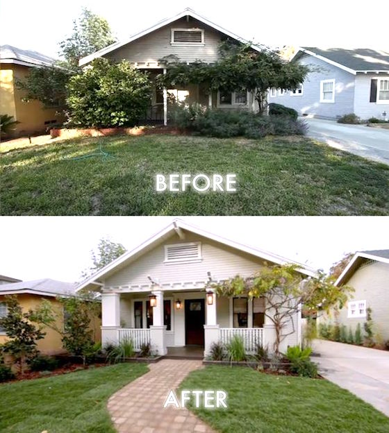 8 small homes get huge facelifts omg lifestyle blog for Before and after home exteriors remodels