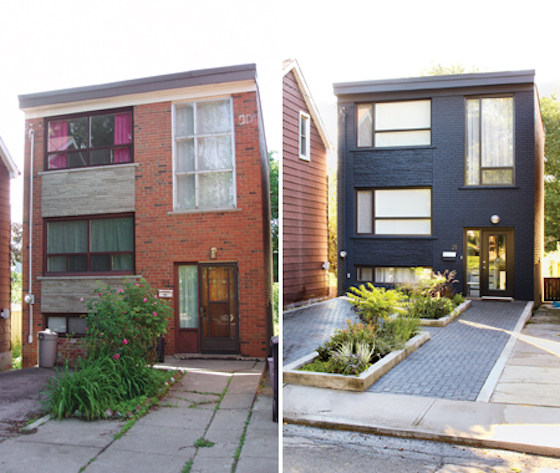 8 small homes get huge facelifts omg lifestyle blog for Before and after exterior home makeovers