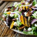 Grilled Peach Honey Goat Cheese Salad