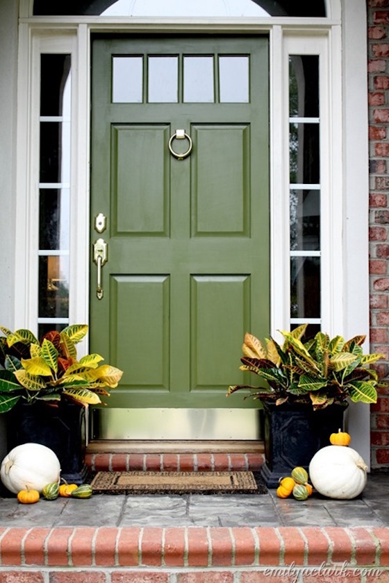 green front doorsWelcoming Painted Front Doors  OMG Lifestyle Blog
