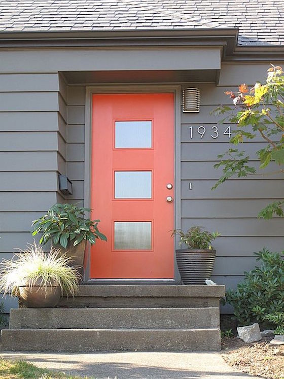 Welcoming painted front doors omg lifestyle blog for Modern painted houses pictures