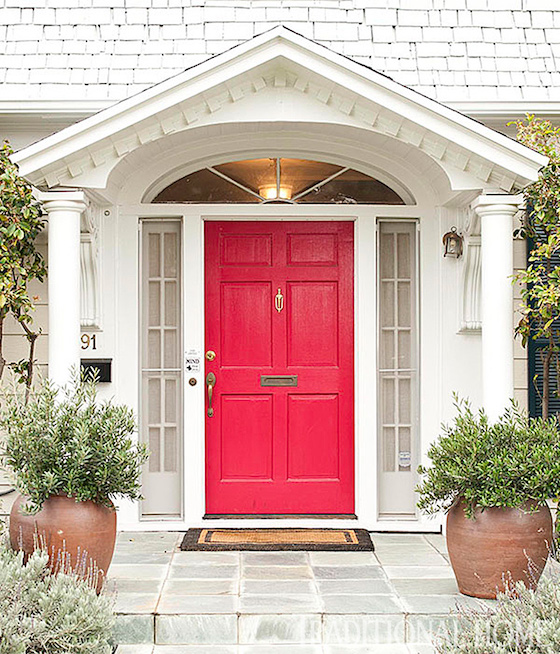 Red Front Door: Welcoming Painted Front Doors