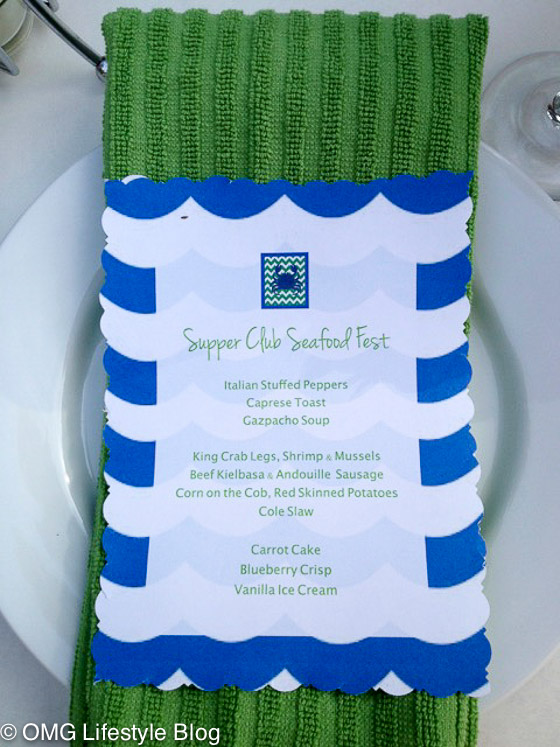 Supper Club Seafood Boil Menu