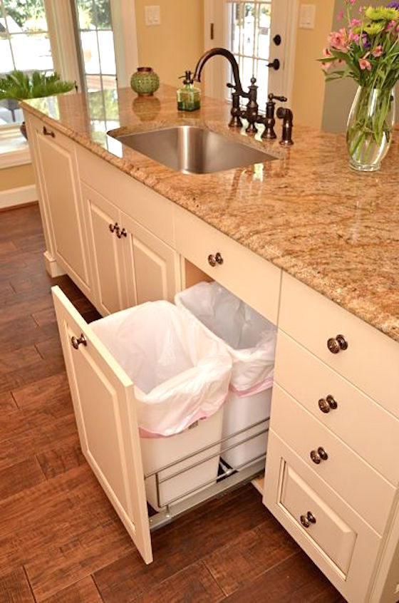 Under Cabinet Trash Containers