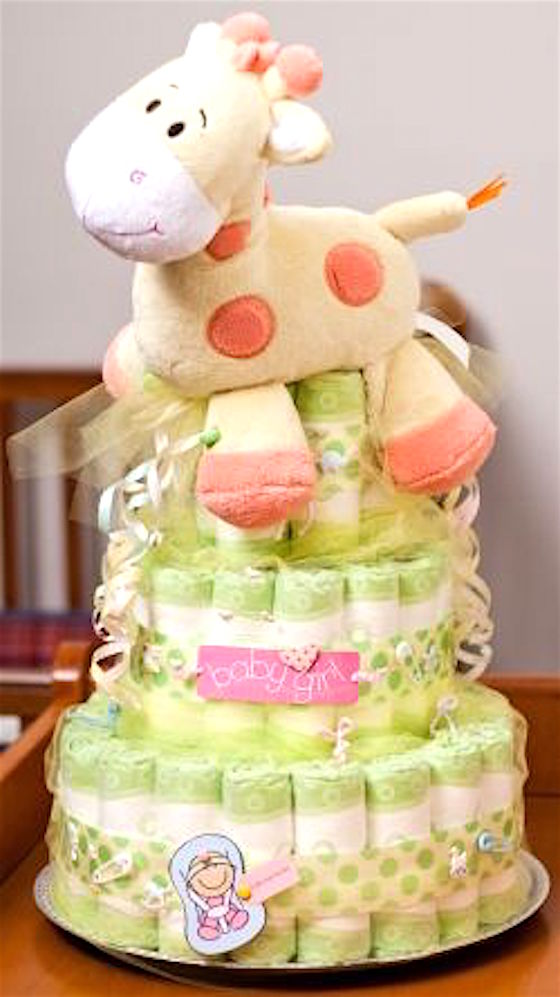 How To Make A Baby Cake Diapers