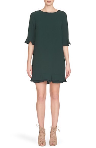 Green Dress with Ruffles at Nordstrom