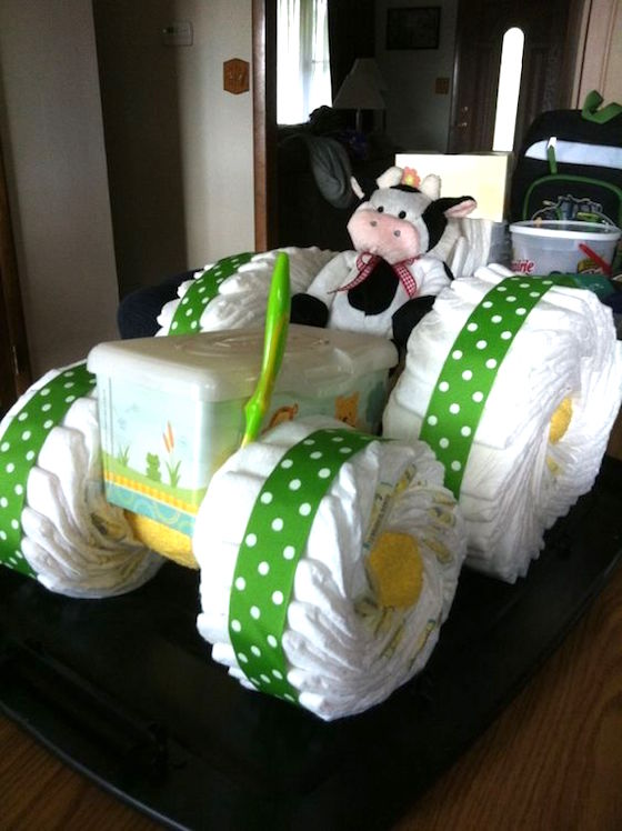 Tractor Diaper Cakes : Adorable diaper cakes for baby showers omg lifestyle