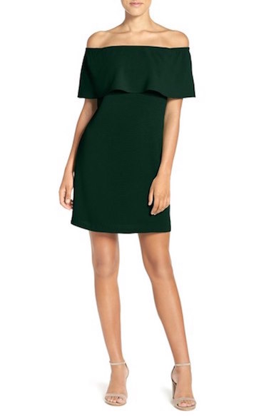 Off the shoulder dress at Nordstrom