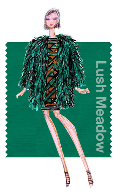 Pantone Lush Meadow for Fall Fashion 2016