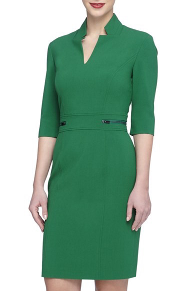 Tahari Green Dress at Nordstrom