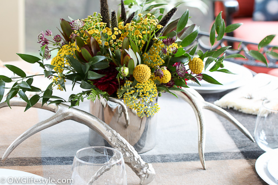 Fall Centerpiece for alfresco dinner party
